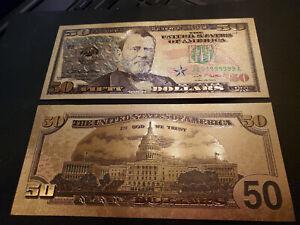 U.S. 50 Dollar gold foil note, series 2009, # JB99999999A