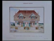 ORRY LA VILLE, PAVILLONS - 1909 - GRANDE PLANCHE COULEUR - ALBERT TURIN