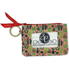 Cactus Succulent Dusty Pink and Green 5 x 4 Polyester Fabric ID Wallet