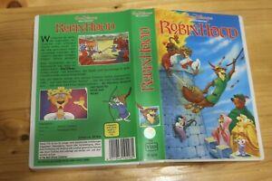 VHS Video Kassette Robin Hood Walt Disney Trickfilm Zeichentrick Film 83 Min
