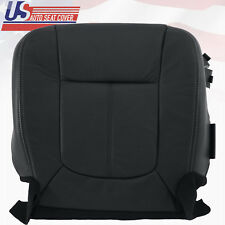 2011 -2016 Ford F250 Lariat Passenger Bottom Perforated Leather Seat Cover Black