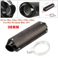 38mm ATV Quad Off-road Motorcycle Exhaust Pipe Muffler Silencer Slip On Killer