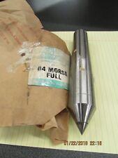 "RED-E-TOOLS LATHE CENTER #4 MORSE TAPER 1/2"" DIAMETER CARBIDE TIP (NEW 2 PC LOT)"