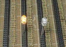 50 Yellow Flash 5mm Blink LEDs Bulb Free Resistors