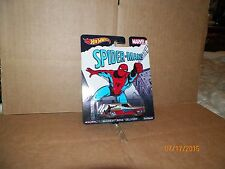 2015 HOTWHEELS SPIDER-MAN 64 CHEVY NOVA DELIVERY WITH REAL RIDERS FREE U.S SHIP
