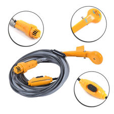 Portable Camping Shower Kit Powered Pump Outdoor Shower Head Plug12V