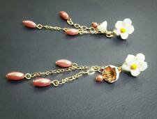 E923 Betsey Johnson Hawaiian Tropical Flower Daisy Tassels Mushroom Earrings UK