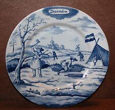Delft Blue Calendar Plate December Metropolitan Museum Of Art, 9.25 inch 1st edt