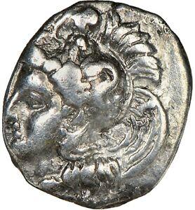 CALABRIA Tarentum 380-280 BC AR Diobol NGC Choice VF