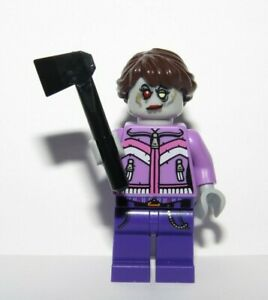 Lego Zombie Minifigure Female Girl Pink Purple Outfit Halloween Reversible Head