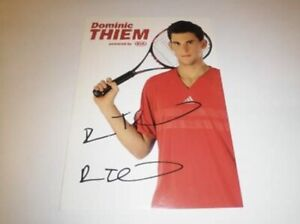 Dominic Thiem Official Hand Signed Autograph Card 🔥 ROOKIE CARD