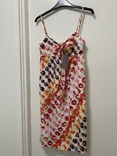 COAST Floral Strappy Silk Summer Dress - SIZE 8 - Multi Colour - BNWT