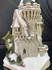 David Winter Castles ~ Hang On George ~ Signed Mint Coa Box Perfect Rare