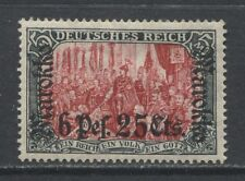 1911 German offices Morocco  6 P. 25 cts. issue mint*, Michel # 58 IA b € 150.00