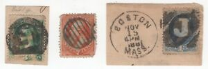 United States SC#'s 147, 160, 182 FANCY CANCELLATIONS!