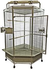 A&e 32 Large Corner Cage Cc3232 Platinum by a & E Cage CC3232PLATINUM Bird Cage
