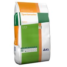More details for icl sportsmaster 4-12-12 autumn winter lawn fertiliser feed 25kg - covers 750m²