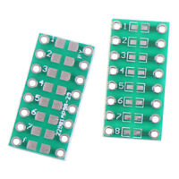 10Pcs SMD/SMT components 0805 0603 0402 to DIP adapter PCB board converter RF