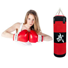 70cm Boxing Empty Punching Sand Bag with Chain Training Practice Martial LN
