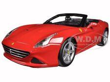 FERRARI CALIFORNIA T (OPEN TOP) RED 1:18 DIECAST MODEL CAR BY BBURAGO 16007