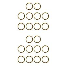 """100 KEY RINGS ~Gold Tone 25mm 1/"""" Sturdy Split Ring ~ Textured Sufrace Hammered"""