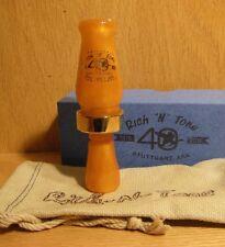 New 40th RNT Rich-N-Tone Short Barrel Mallard Duck Call Burndown Orange Pearl