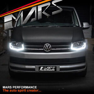 REAL LED DAY-TIME DRL PROJECTOR HEAD LIGHTS FOR VOLKSWAGEN VW TRANSPORTER T6 16+