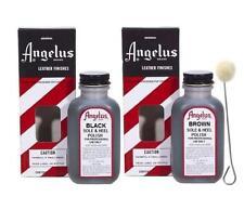 Angelus Tandy Fiebings Kiwi Leather Sole & Heel Polisher Edger 1 Black & 1 Brown