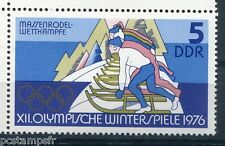 ALLEMAGNE DDR 1975, timbre 1779, SPORT, LUGE, JEUX OLYMPIQUES, neuf**