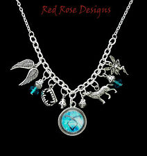 ~THE MORTAL INSTRUMENTS THEMED STATEMENT CHARM NECKLACE~