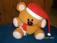 TOY FACTORY PAWS GARFIELD THE CAT TEDDY BEAR POOKIE POOKY PLUSH IN SANTA HAT
