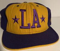 New Era 59FIFTY LA Los Angeles Lakers Hat NBA Hardwood Classic Cap Purple/Yellow