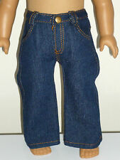 "FITS 18"" AMERICAN GIRL BOY DOLL CLOTHES BLUE DENIM POCKET Pants JEANS"