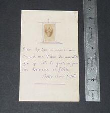 1873 IMAGE PIEUSE MANUSCRITE CATHOLICISME HOLY CARD VOEUX PIEUX