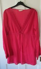 Ladies marks and Spencer tunic style top ( size 12 ) pink/ holidays.