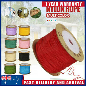 100m Nylon Cord Thread Chinese Knot Macrame Beading Bracelet Braided DIY 0.8mm