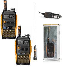 2 Pack Baofeng GT-3 *Mark II* 136-174/400-520MHz Dual Band Radio Talkie Walkie