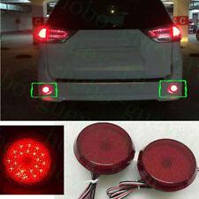 2PCS For 2010-2018 Toyota Sienna CAR Round Rear Bumper Fog Light LED COVER REFIT