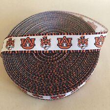 "1"" Auburn Tigers Tiger Print Border Grosgrain Ribbon by the Yard (Usa Seller!)"