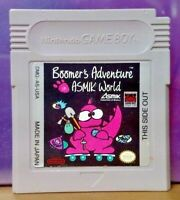 Boomer's Adventure World Nintendo Game Boy Color GB Rare TESTED GBA Advance GBC