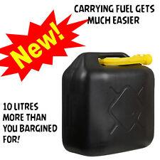 10 L BLACK PLASTIC JERRY CAN DIESEL PETROL FUEL OIL WATER CANISTER LITRE SPOUT