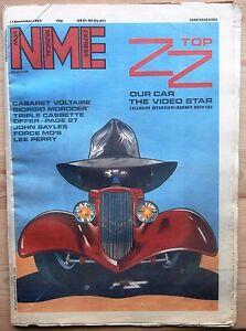 NME 17 NOV 1984 ZZ TOP CABARET VOLTAIRE MORODER MADONNA LEE PERRY JOHN SAYLES