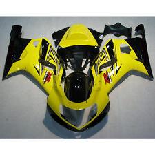 Yellow INJECTION ABS Fairing Bodywork Fit For SUZUKI GSX-R 600 GSXR750 2001-2003
