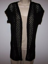 Ladies MAURICES Brand Black Open Front Cardigan Sweater Top Size Junior XL