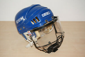 CCM Eishockey Helm mit Visier/Gitter blau Model M-HT2 Size 7 - 7 5/8