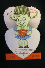 Vintage No Glamour Girl Valentine Card 1930S
