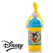 DISNEY MICKEY MOUSE CHILDS KIDS FLIP TOP FLASK DRINKS JUICE WATER POP BOTTLE NEW