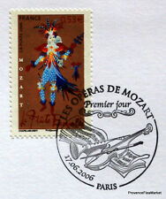 MOZART FLUTE ENCHANTEE FRANCE Yt 3917 OBLITERATION 1er JOUR  NOTICE PHILATELIQUE