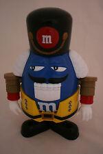"M&M Candy Dispenser  Nutcracker Original Plastic 10"" Tall Blue Nice"