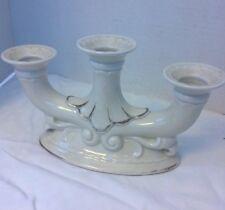 Antique West Germany Candle Holder Candlestick Fine Porcelain Cream Thuringia